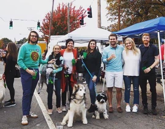 residents outdoors at Harvest Fest