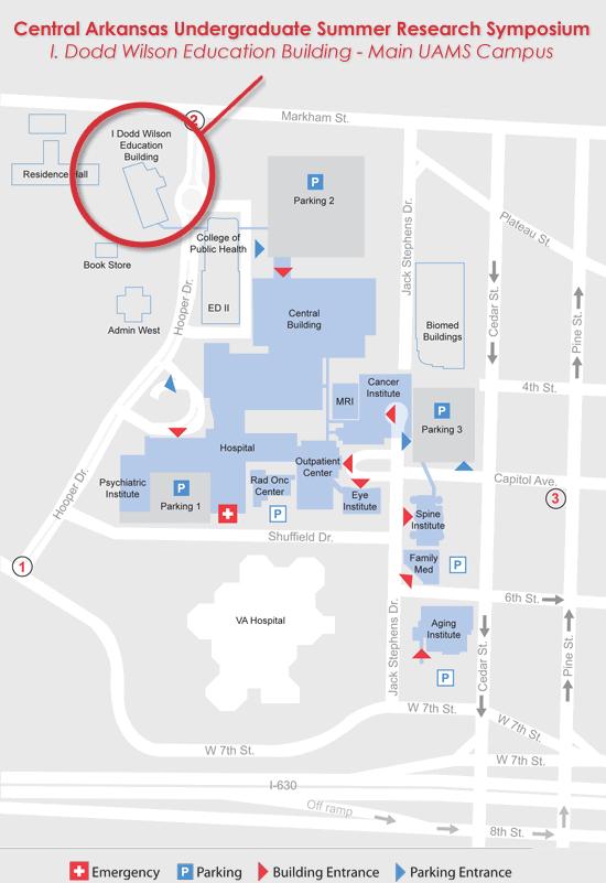 UAMS Campus Map