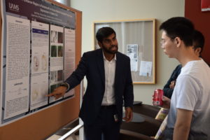 student presenting research work