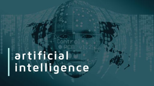 Graphic with text: artificial intelligence