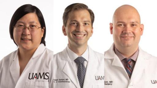 Drs. Wong, Sanford & Sexton combined portraits