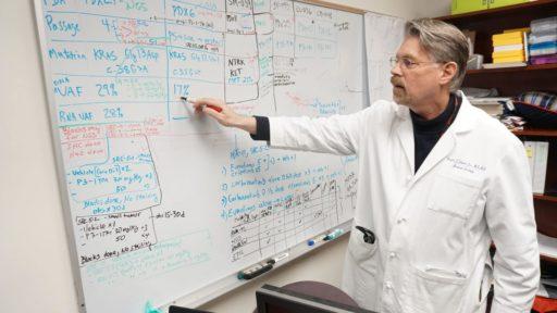 Dr. Johann at whiteboard