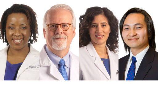 Image of four diverse Emergency Department faculty members