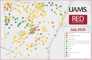 RED projects map July 2019