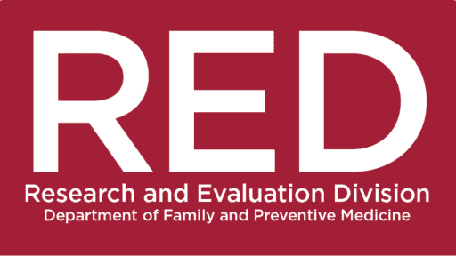 RED logo - text reads RED - Research and Education Division, Department of Family and Preventive Medicine
