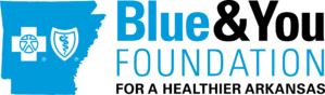 """Blue and You Foundation Logo, text includes """"Blue and You Foundation for a Healthier Arkansas"""""""