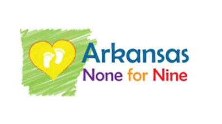 Arkansas None for Nine logo