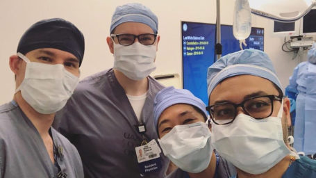 Anesthesiology residents in an OR