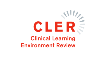 Graphic - CLER Logo. Text shows Clinical Learning Environment Review