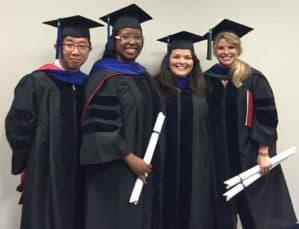 Group of Ph.D. grads