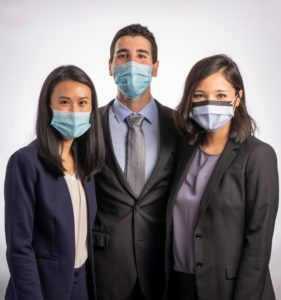 PGY-1 residents wearing masks