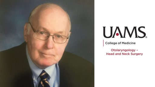 """McGill - image includes the UAMS College of Medicine Logo and the text """"Department of Otolaryngology - Head and Neck Surgery."""""""