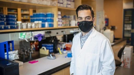 Dr. Jesus Delgado-Calle in his lab