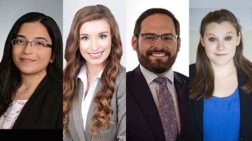 Image of four of the 2021 Radiology interns