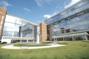 exterior of the UAMS Medical Center