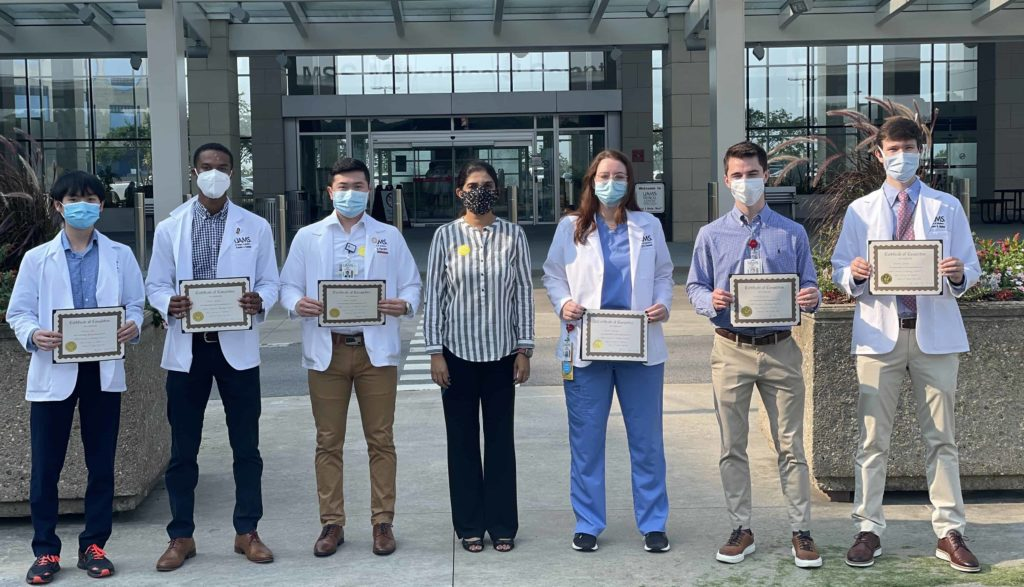 Students that participated in Summer in Radiology 2021