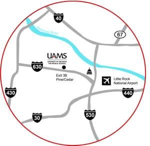 Little Rock area Interstate map