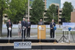 Groundbreaking ceremony for the expanded Radiation Oncology Center