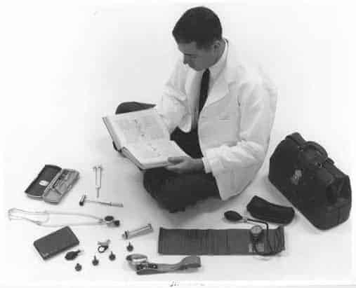 Student with Medical Instruments