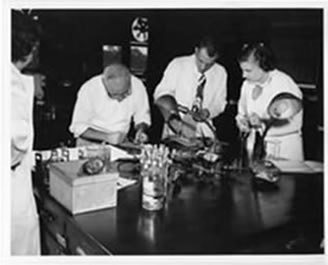 Biochemistry faculty and technicians - 1953