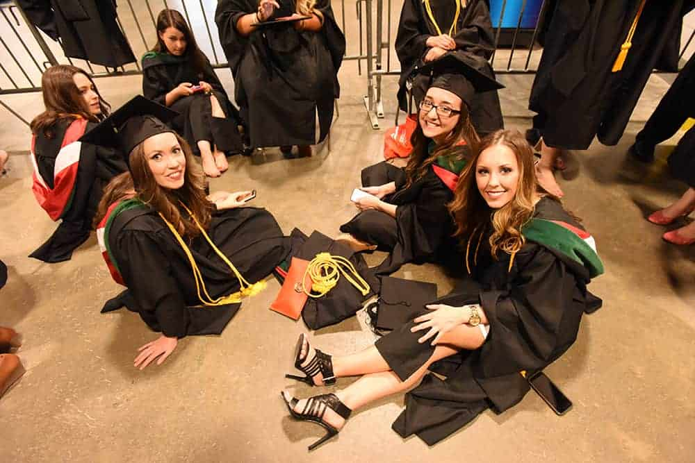 Med school graduates at commencement