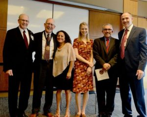 Dr. Bill Ventres with family and COM faculty members