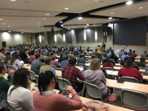 Wide shot of the room during the anatomy memorial