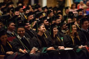 Graduates seated at Honors Convocation