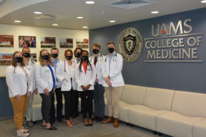 Group of first year medical students