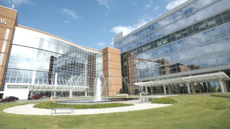 Exterior of UAMS Medical Center